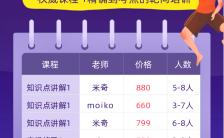 紫色扁平教育培训秋季招生宣传手机海报缩略图