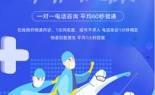 扁平简约医疗行业在线问诊宣传海报缩略图