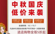 中国风简约中秋国庆双节商场促销海报缩略图