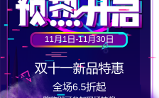 时尚炫酷双十一电商大会双11预热狂欢节手机海报缩略图