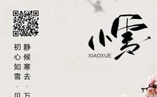 简约清新传统二十四节气之小雪朋友圈日签宣传海报缩略图