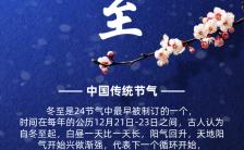 蓝色大气二十四节气冬至海报缩略图