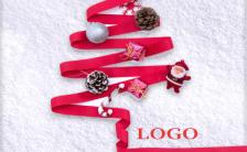 简约时尚圣诞节快乐节日宣传海报缩略图