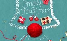 绿色简约大气圣诞节祝福活动日签宣传海报缩略图