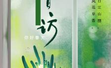你好春天春访小清新春天出游玩赏手机海报缩略图