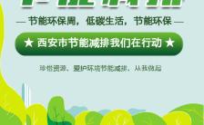 低碳环保节能减排节能环保周宣传手机海报缩略图