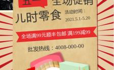 红色复古五一劳动节促销活动海报模板缩略图