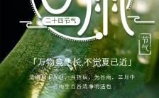 绿色清新谷雨节气介绍日签手机海报缩略图