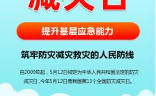 5.12全国防灾减灾日提升基层应急能力手机海报缩略图
