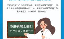 5.15全国防治碘缺乏病日宣传手机海报缩略图