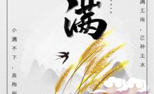 白色清新小满节日宣传手机海报缩略图