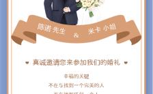 蓝色简约风格婚礼邀请函海报缩略图
