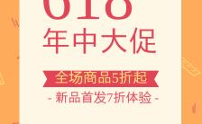 618年中大促福利促销大字手机海报缩略图