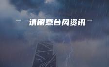 台风降雨暴雨警报提醒手机海报缩略图