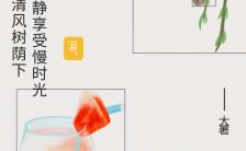 大暑节气问候手绘西瓜夏天手机海报缩略图
