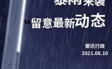 台风降雨暴雨提醒实景手机海报缩略图