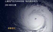 蓝色简约台风实时播报实务海报缩略图