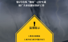 自然灾害台风来袭预警宣传海报缩略图