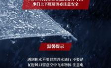 暴雨雷雨下雨温馨提示手机海报缩略图