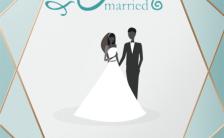 内页白色优雅大气小清新婚礼请帖请柬邀请函缩略图