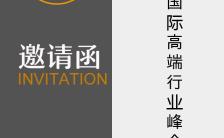 简约会议演出比赛讲座企业通用邀请函缩略图