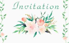 清新森系手绘花朵婚礼邀请函小清新请柬缩略图