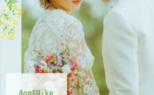简约森系小清新婚礼照片婚礼邀请函缩略图