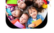 简洁大气幼儿园招生简介模板缩略图