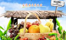 水果店新鲜水果夏季新鲜上市促销模板缩略图