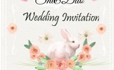 清新唯美浪漫可爱婚礼请柬H5模板缩略图
