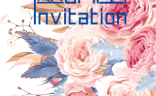 唯美温馨鲜花典雅高端展会会议产品发布邀请函模板缩略图