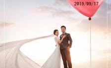 清新简约时尚婚礼邀请函婚礼请柬婚礼喜帖缩略图