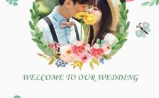 小清新简约婚礼邀请函H5模板缩略图