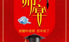 酒店宣传谢师宴活动促销宣传喜庆红H5模板缩略图