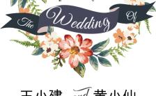 欧式浪漫水彩手绘欧美风格文艺婚礼请柬H5模板缩略图