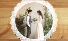 个性简约黑白灰时尚高端婚礼邀请函缩略图