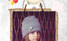 卡通风清新可爱宝宝相册H5模板缩略图