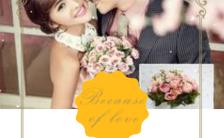 简约动态浪漫文艺婚礼邀请请柬H5模板缩略图