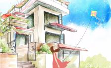 炫彩卡通手绘纪念相册h5模板缩略图