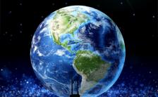 地球一小时公益宣传海报H5模板缩略图