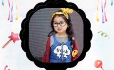 简约清新宝宝生日邀请函请柬纪念册h5模板缩略图