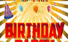 生日快乐生日派对时尚卡通漫画风格H5模板缩略图
