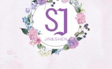 紫色花语婚礼邀请函清新森系祝福喜帖请柬H5模板缩略图