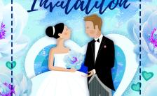 时下最流行欧美蒂芙尼蓝梦幻清新婚礼请柬邀请函缩略图