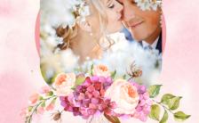 清新甜美婚礼邀请函电子请柬H5模板缩略图