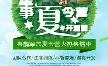 小清新漫画暑期欢庆军旅暑假军事夏令营户外拓展招生培训宣传H5模板缩略图