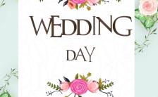 欧式清新浪漫婚礼邀请涵H5模板缩略图