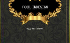 黑金餐饮推广H5模板缩略图