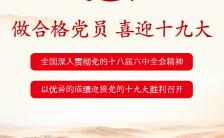 红色政治喜迎十九大党章文化宣传H5模板缩略图