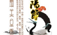 九九重阳节纯洁白色祝福贺卡H5模板缩略图